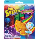 Mr. Sketch® Scented Washable Markers, 6 colors