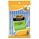 BIC® Round Stic® Ballpoint Pens, Blue, Pack of 10