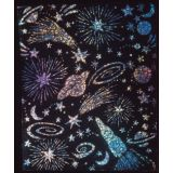 Scratch & Sparkle® Soft-Scratch® Holographic Glitter Board, 30 sheets