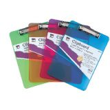 Plastic Clipboard, Assorted Colors
