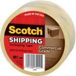 Scotch® Commercial Performance Packaging Tape, Clear, 1 roll
