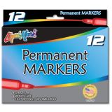 Liqui-Mark® Permanent Markers, Red, Dozen
