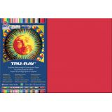 Tru-Ray® Fade-Resistant Construction Paper, 12 x 18, Holiday Red