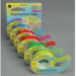 Removable Highlighter Tape, 1 roll each of six colors