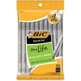 BIC® Round Stic® Ballpoint Pens, Black, Pack of 10