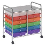 Mobile Organizer, 12 Drawer, Assorted