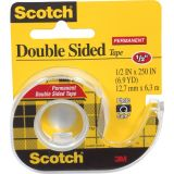 Scotch® Double Sided Tape, 1/2 x 250