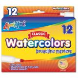 Liqui-Mark® Economical Watercolor Markers, Red, Box of 12