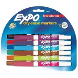 Expo® Low Odor Dry Erase Markers, Fine Tip, 12-color set