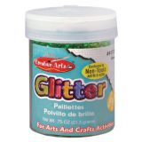 Art Glitter, 3/4 oz. Jar, Green