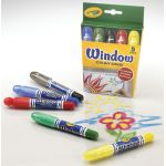 Crayola® Washable Window Crayons, 5 colors