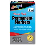Liqui-Mark® Sharp Mark Permanent Markers, Blue, Dozen