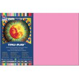 Tru-Ray® Fade-Resistant Construction Paper, 12 x 18, Shocking Pink