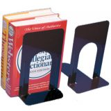 Metal Bookends, 5H, Black