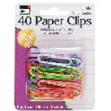 Vinyl-Coated Paper Clips, Jumbo Size, Pack of 40