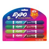 Expo® Dual Ended Dry Erase Markers, Set of 4, Assorted