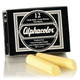 Alphacolor® Triple Size Chalk, Golden Ivory, Box of 12