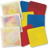 Optical Illusion Rubbing Plates, 7 x 7, 6 designs