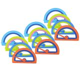 (12 EA) MICROBAN KIDS SOFT TOUCH PROTRACTOR