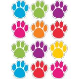 (6 EA) DIE-CUT MAGNET COLORFUL PAWS