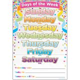 SMART CONFETTI DAYS THE WEEK CHART DRY-ERASE SURFACE