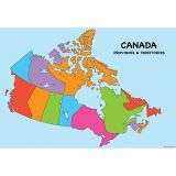 10 PK SMART POLY CANADA MAP CHARTS DRY-ERASE SURFACE