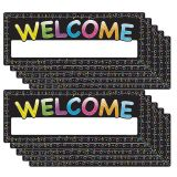 (10 EA) POLY WELCOME BANNER CHALK DOTS DRY-ERASE SURFACE