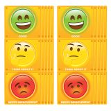 (10 EA) CLIP CHART STOP LIGHT EMOJI PSITIVE BEHAVIOR DRY-ERASE SURFACE