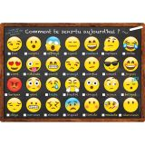(10 EA) CHART FRENCH EMOJI HOW YOU FEELING DRY-ERASE SURFACE