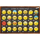 (10 EA) CHART SPANISH FEELINGS AND EMOTIONS DRY-ERASE SURFACE