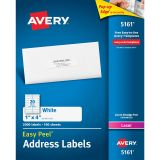 AVERY EASY PEEL 1X4 WHITE MAILING LABELS 2000 COUNT