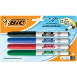 BIC INTENSITY DRY ERASE FINE POINT MARKERS 4 PACK LOW ODOR