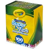 100 CT WASHABLE SUPER TIPS MARKERS