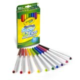10 CT WASHABLE SUPER TIPS MARKERS