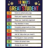 10 WAYS TO BE A GREAT STUDENT CHART SPARKLE AND SHINE GLITTER