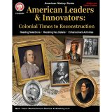 COLONIAL TIMES TO RECONSTRUC WORKBK AMERICAN LEADERS & INNOVATORS