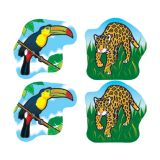 RAINFOREST ANIMALS STICKERS 120 PERPK