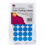 COLOR CODING LABELS BLUE 3/4IN