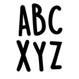 CASUAL BLACK 2IN LETTER STICKERS