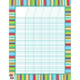 STRIPES & STITCHES INCENTIVE CHART DOTS ON TURQUOISE