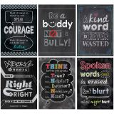 INSPIRE U NO BULLYING ALLOWED 6 PK POSTERS