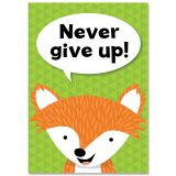 NEVER GIVE UP WOODLAND FRIENDS INSPIRE U POSTER
