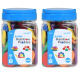(2 EA) JUNIOR RAINBOW PEBBLES MINI JAR