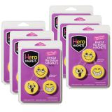 (6 PK) HERO MAGNETS EMOJI BIG BUTTON MAGNETS 3 PER PK