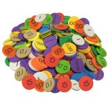 10-VALUE DECIMALS TO WHOLE NUMBERS PLACE VALUE DISCS SET