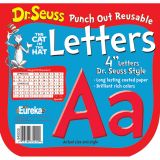 DR SEUSS PUNCH OUT REUSABLE RED LETTERS 4IN