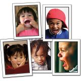 (2 EA) PHOTOGRAPHIC LEARNING CARDS FACIAL EXPRESSIONS