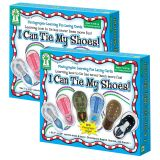 (2 EA) LEARNING FUN LACING CARDS I CAN TIE MY SHOES