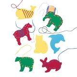 LAURI LACING & TRACING ANIMALS 7PK AGES 3-7