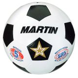SOCCER BALL WHITE SIZE 5 RUBBER NYLON WOUND